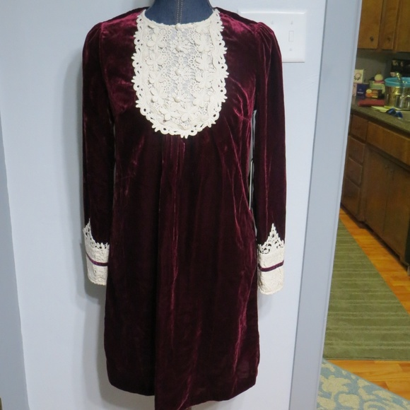 09e84bd7b2bdd Anna Sui Dresses | X Modcloth Velvet Dress 4 Nwt Gorgeous | Poshmark